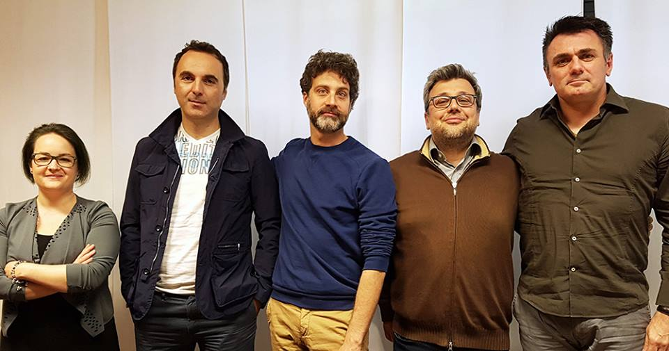 Da sinistra: Alice Santorso, Paolo Agostini, Davide Dolores, Marco Segato, Sergio dal Maso